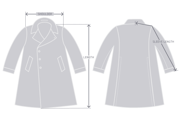 Garment measurement illustration